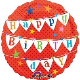 Happy Birthday Banners Mylar Party Balloon 18 inch from Balloon Shop NYC