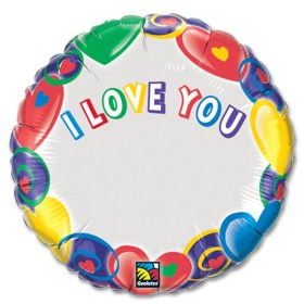 I Love You Personalized Microfoil Balloon from Balloon Shop NYC