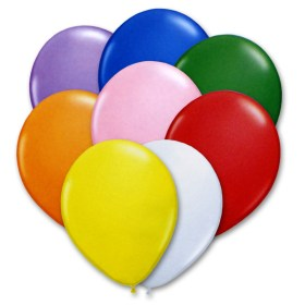 Bright Solid Colors Latex Party Balloons 12 inch from Balloon Shop NYC