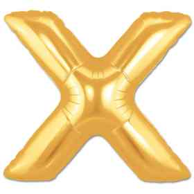 Jumbo Foil Gold 40 inch Letter X Balloon from Balloons Shop NYC