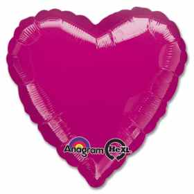 Metallic Fuchsia Heart Shape 18 Inch Mylar Party Balloon from Balloons Shop NYC