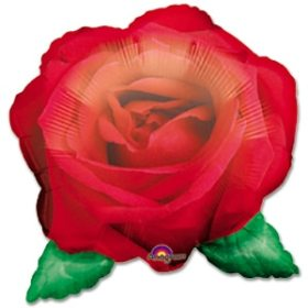 Rose Floatograph Mylar Balloon from Balloon Shop NYC