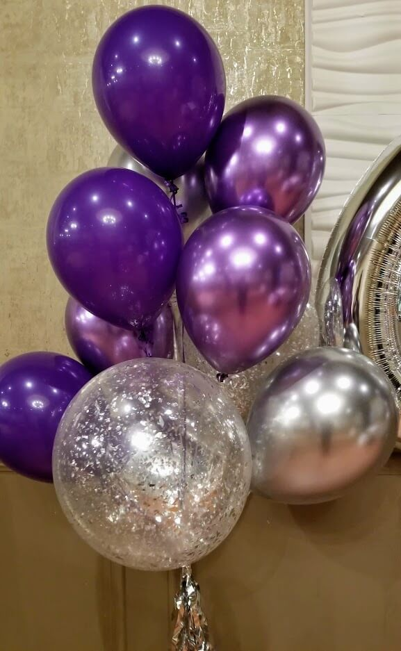 Baby Collection Silver Set Balloon Centerpieces Bouquet Bunch Set Collection In All