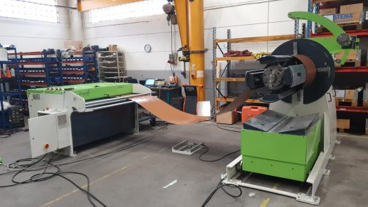 SLIT and CUT to length machine CIDAN with motorized decoiler