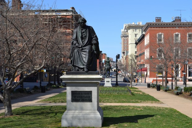 Taney Monument, March 28, 2011. Monument City