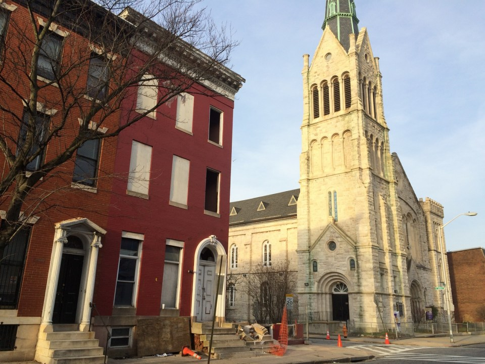 1232 Druid Hill Avenue  and Bethel AME Church, 2016 January 15