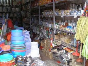 Haushaltwarengeschäft in Dali: Hier gibt es nicht nur schöne Becher sondern auch Korkenzieher