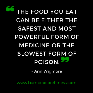 Food can be medicine or posion