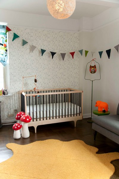 Baby Girl Nursery Removable Wallpaper Neutral Amp White Nurseries Perfect For Both Genders