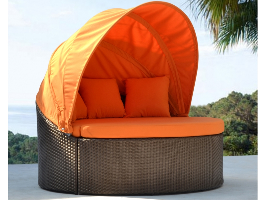 Wurzelholz Hocker Ovalia Designer Sonneninsel - Luxus Gartenliege | Outdoor