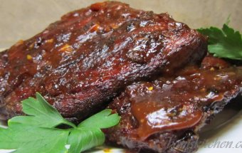 Fig and caramelized onion BBQ ribs
