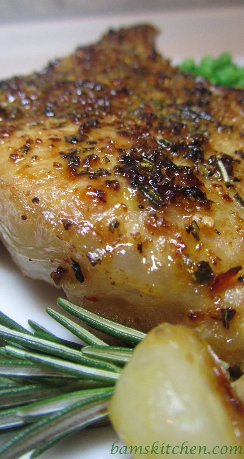 Bam's Kitchen - Rosemary Herbed Pork Chops with Shallot Wine Sauce ...