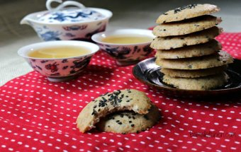 Chewy Black Sesame Cookies_Bams Kitchen