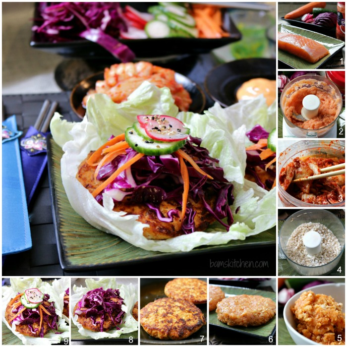 Kimchi Salmon and Quick Pickles / http://bamskitchen.com