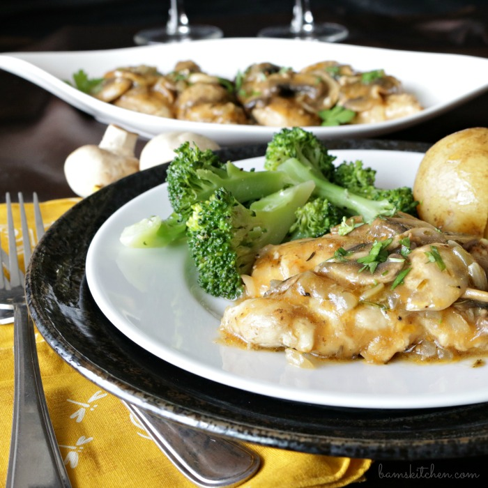 Bam's Kitchen - Mushroom Chicken with Brandy Sauce - Bam's ...