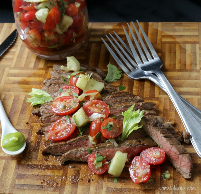 Bloodied Married Flank Steak / http://bamskitchen.com