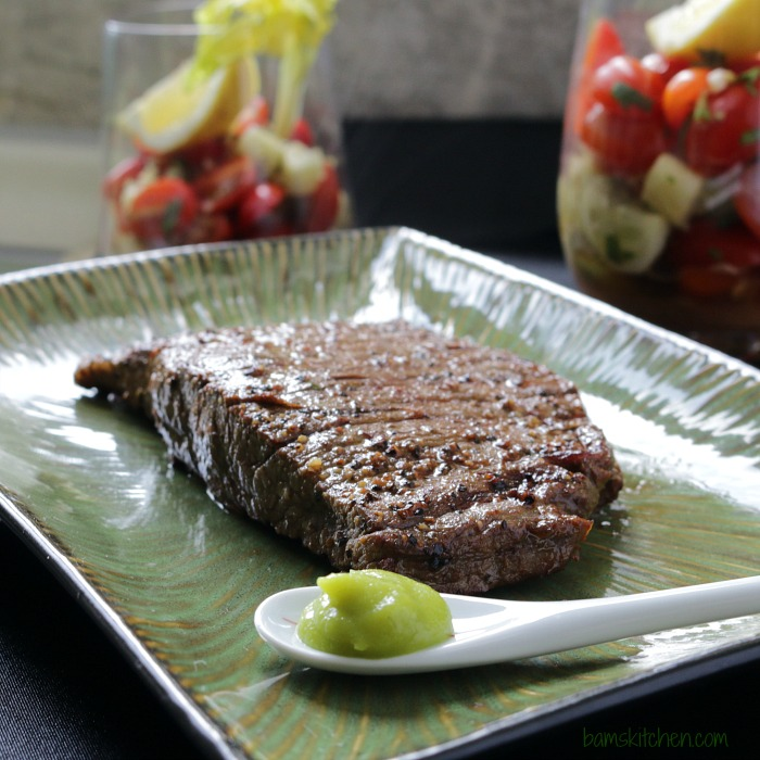 Bam's Kitchen - Wasabi Bloody MARRIED Flank Steak - Bam's Kitchen