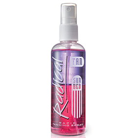 Radical rapid sun bed tanning spray