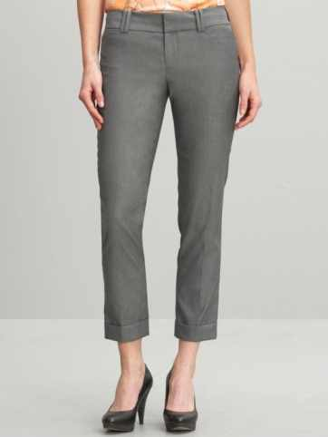 Banana Republic Martin fit textured black cuffed crop