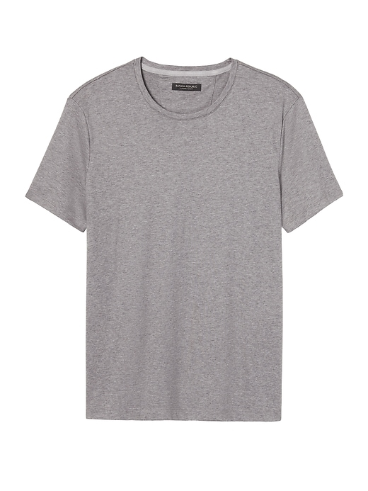 Luxury-Touch Crew-Neck T-Shirt Banana Republic