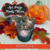 OhModgeGod! - Spooky Mod Podge Candle Upcycle