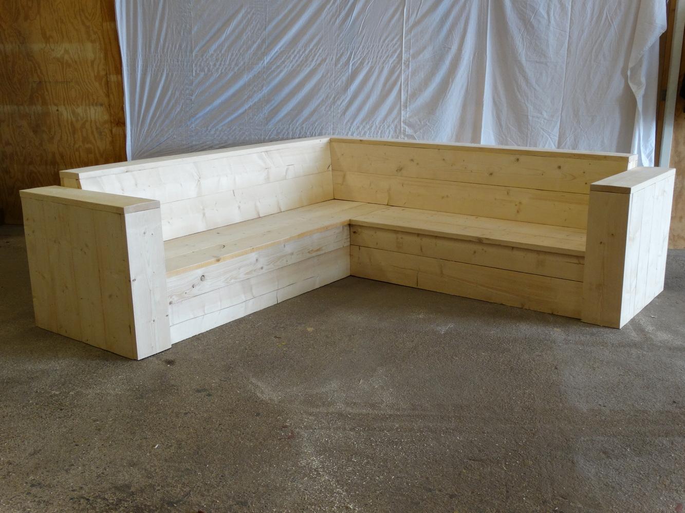 Hoek Loungebank Tuin : Hoek loungebank met plantenbak loungebanken edan tuin accessoires