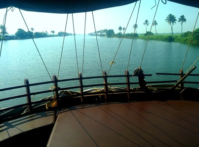 View from the top floor of the house boat