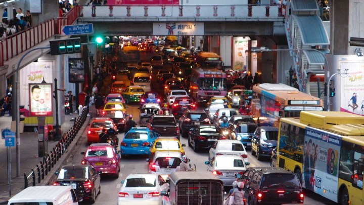 bad traffic in Siam station