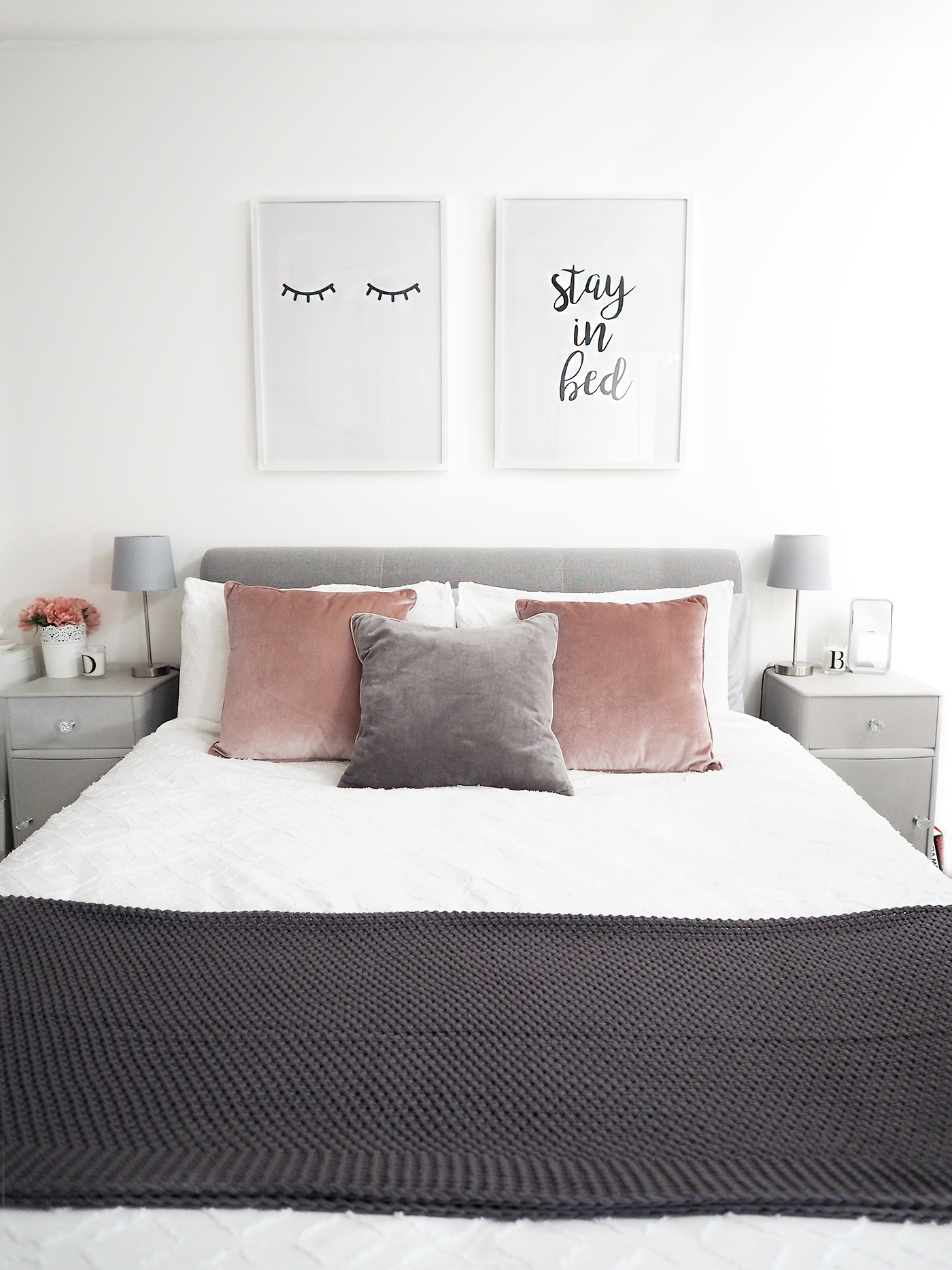 Scandi Style Bedding Bedroom Tour Pink And Grey Bedroom Decor Bang On Style