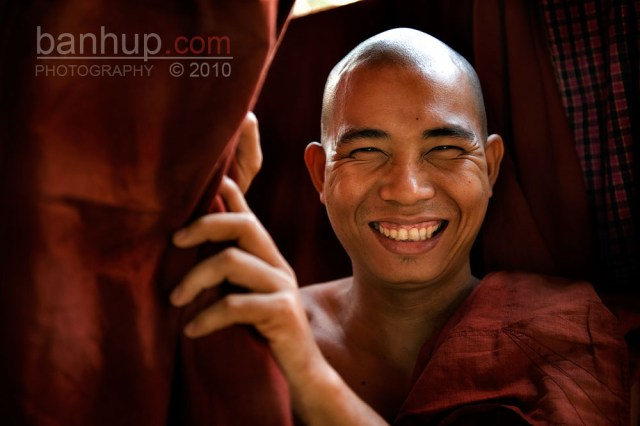 Happy monk