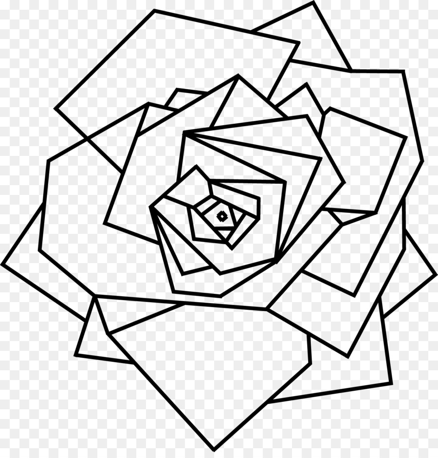 Black And White Flower Png Download 1457 1502 Free Transparent Geometry Png Download Cleanpng Kisspng