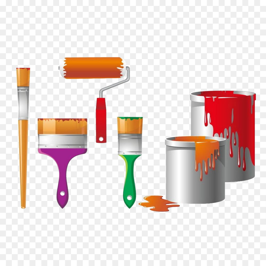 Paint Brush Cartoon Png Download 1000 1000 Free Transparent - Paint Brush Home Depot