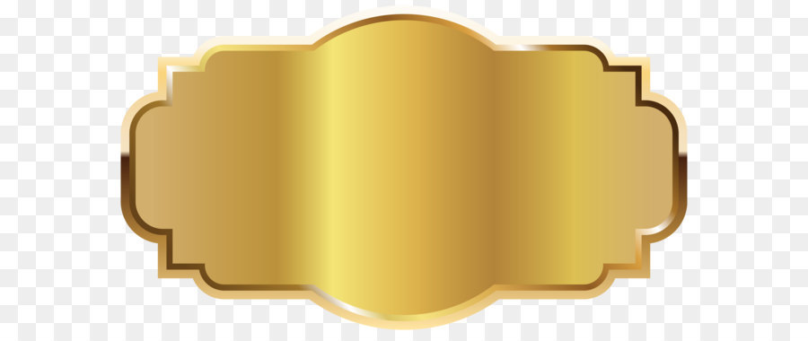 Template Label Clip art - Gold Label Template Clipart PNG Image png