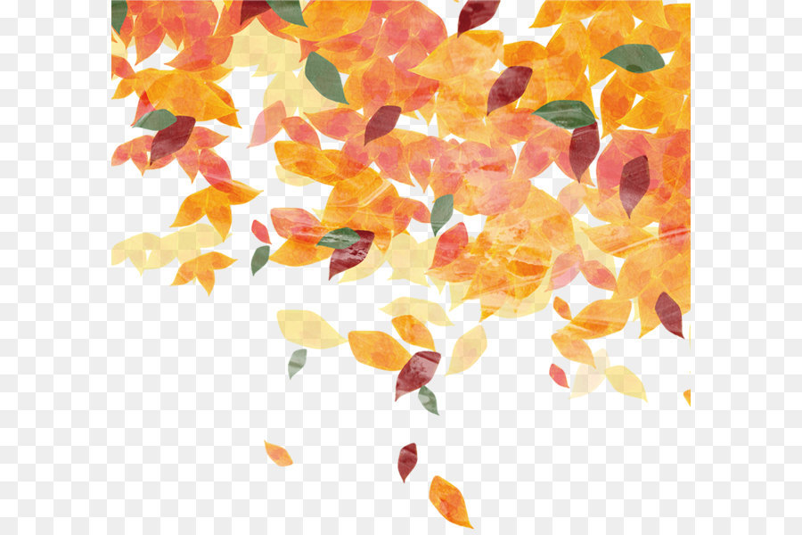 Fall Leaves Falling Wallpaper Leaf Autumn Pattern Hand Painted Leaves Png Download