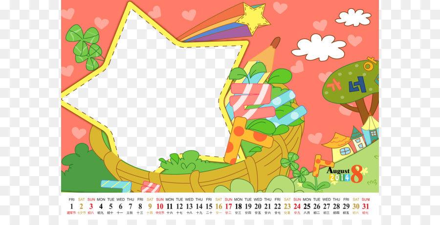 Calendar Cartoon Drawing Web template Child - Children\u0027s cartoon