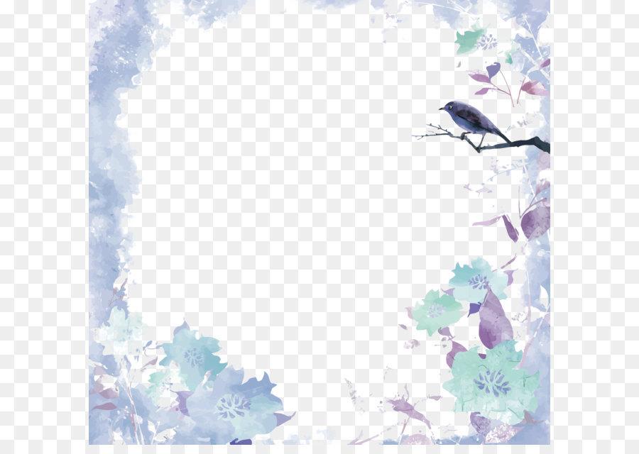 floral border transparent