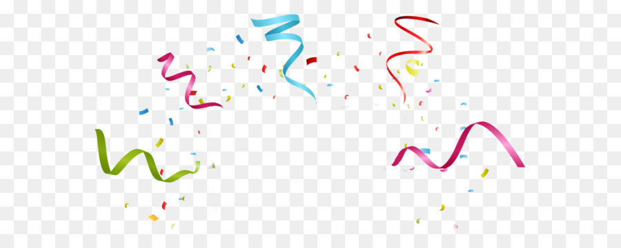 Party Ribbon Birthday Stock photography - Colorful fireworks ribbons