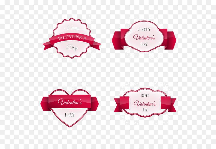 Valentine\u0027s Day Label Paper Euclidean vector - 4 Valentine Ribbon