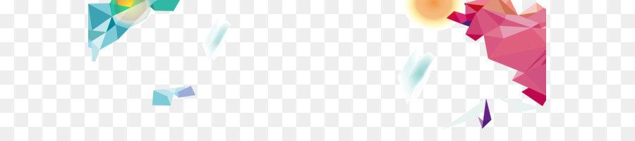 Irregular geometric banner background png download - 1920*547 - Free