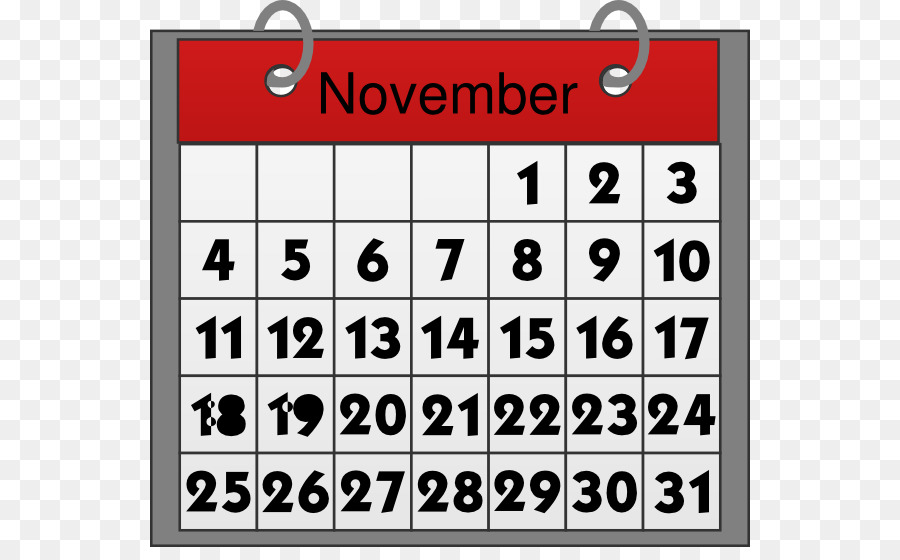 Calendar May Clip art - November Cliparts png download - 600*547