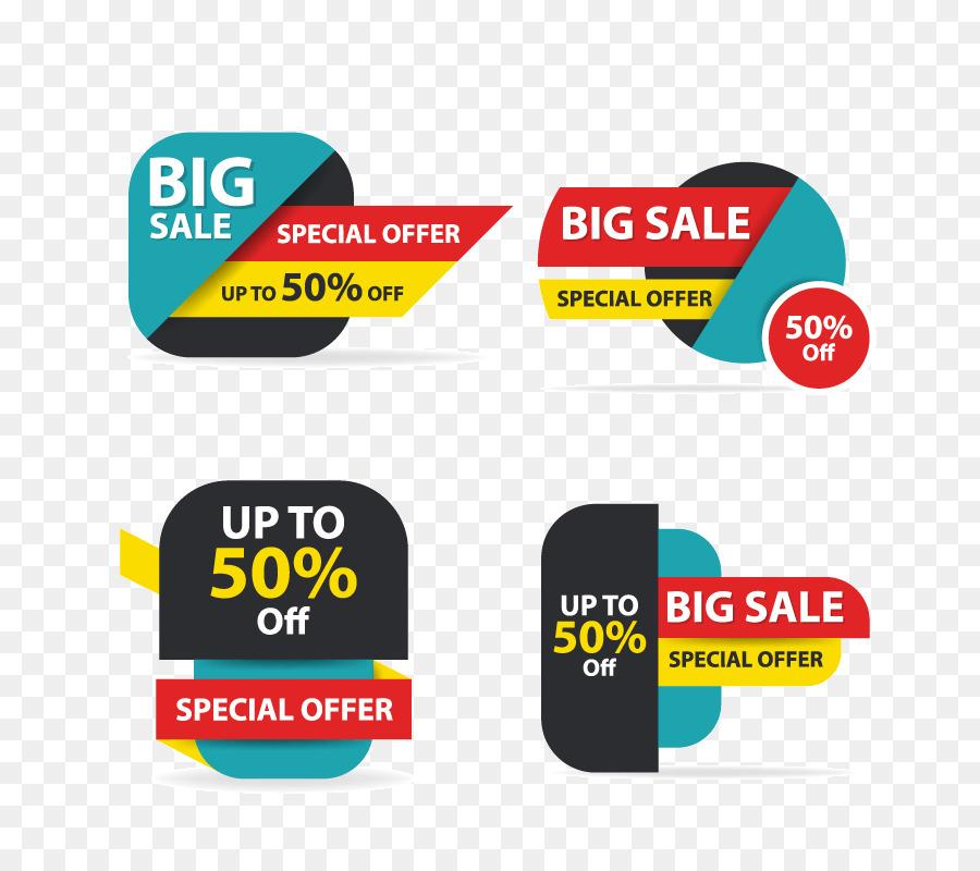Sales Logo Banner - Colorful shopping sale flyer poster brochure