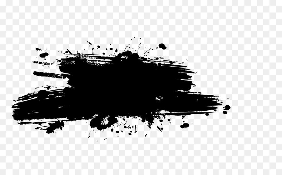 Black Wallpaper Border Splash Painting Ink Splash Png Download 1272 768