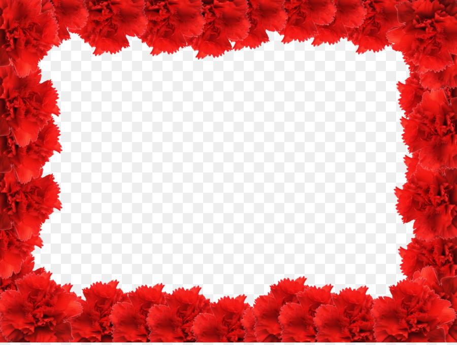 Picture frame Rose Red - Red Flower Frame PNG Photo png download