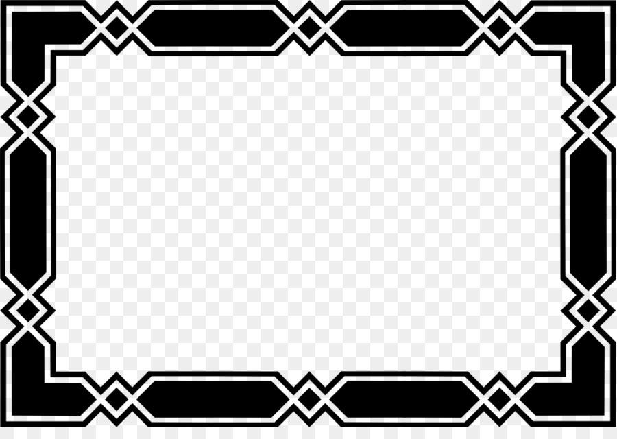 Black and white Clip art - Black Border Frame Transparent Background