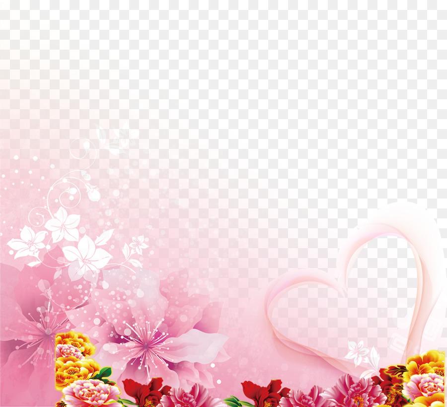 Wedding invitation Wallpaper - Transparent decorative flowers