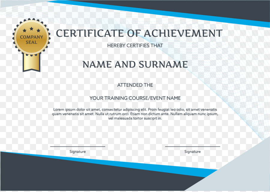 Graduation ceremony Brand Party - English certificate template png - Graduation Certificate Paper