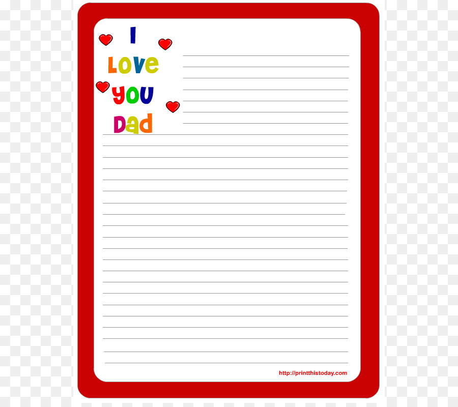 Wedding invitation Paper Template Letter Fathers Day - Free - printable letter paper with lines