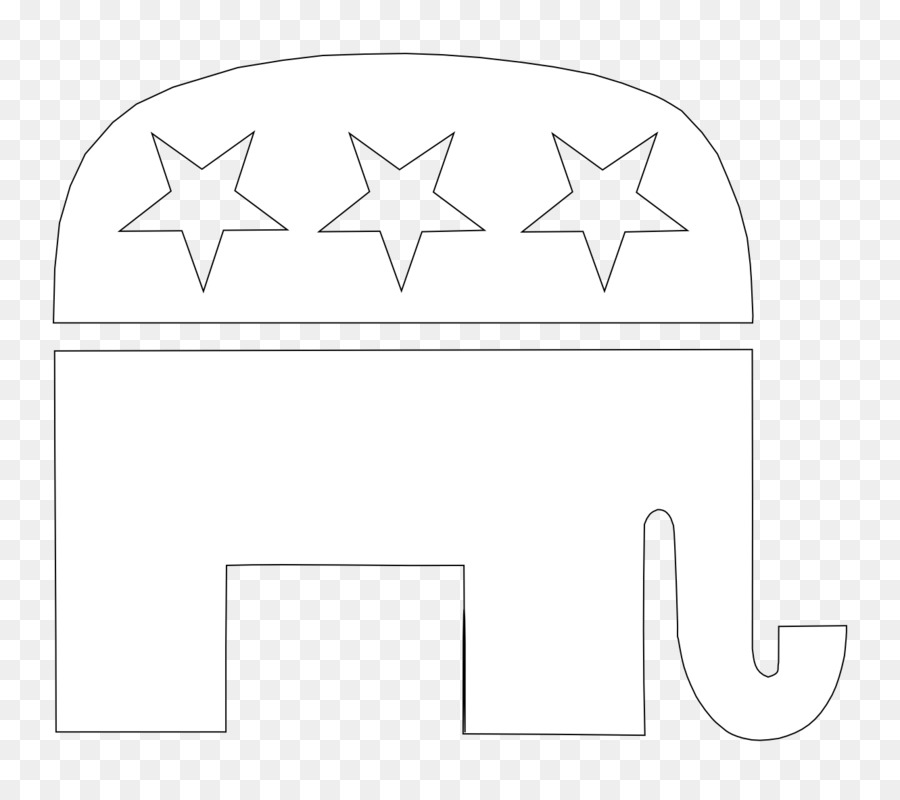 Paper White Structure Pattern - Republican Party Elephant png