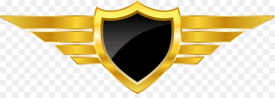 Logo Euclidean vector - Vector golden badge shield design png