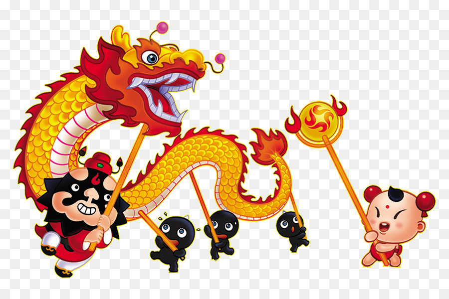 Cartoon Animation Wallpaper Free Download China Lion Dance Chinese New Year Dragon Dance Dragon